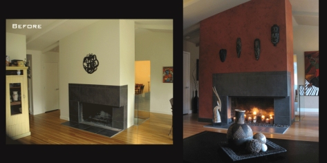 Karin Fireplace before after