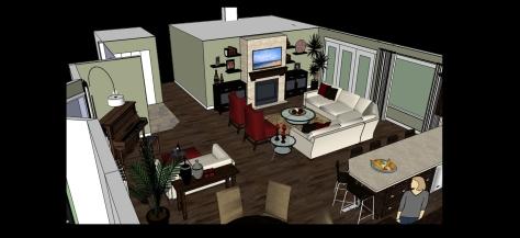 kitchen family room 3