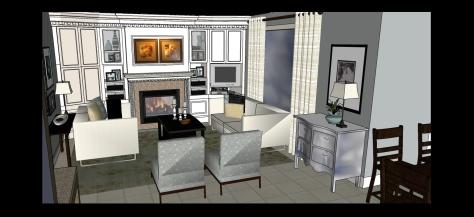 model of living room 2
