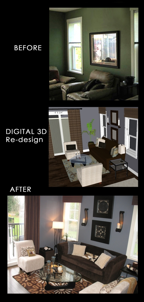 SEEMA living room Before and After