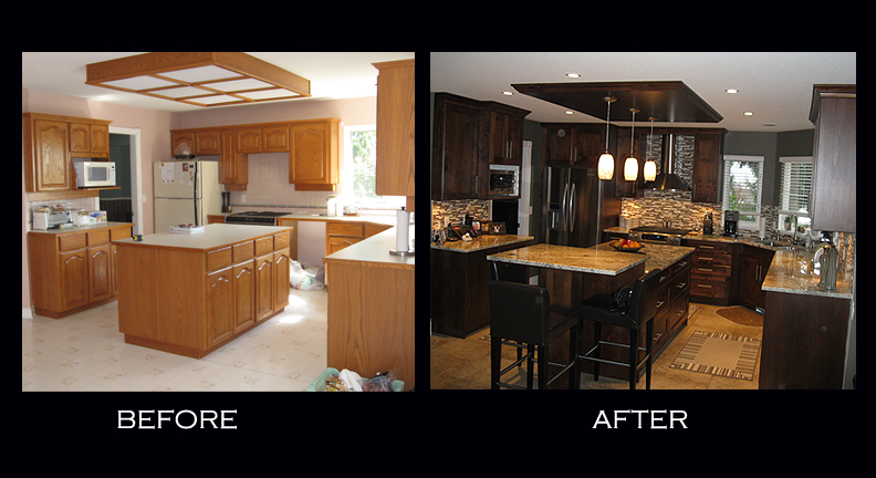 Kitchen Before And After ~ Interiors Design