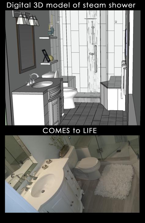 digital steam shower to life